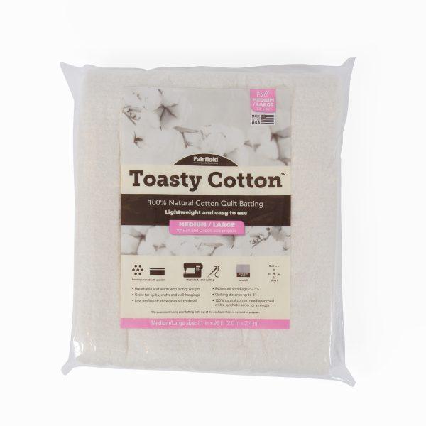 """Toasty Cotton Batting 81"""" Folded"""