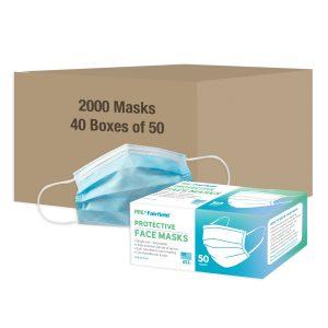 Case of 2000 Single Use Face Masks